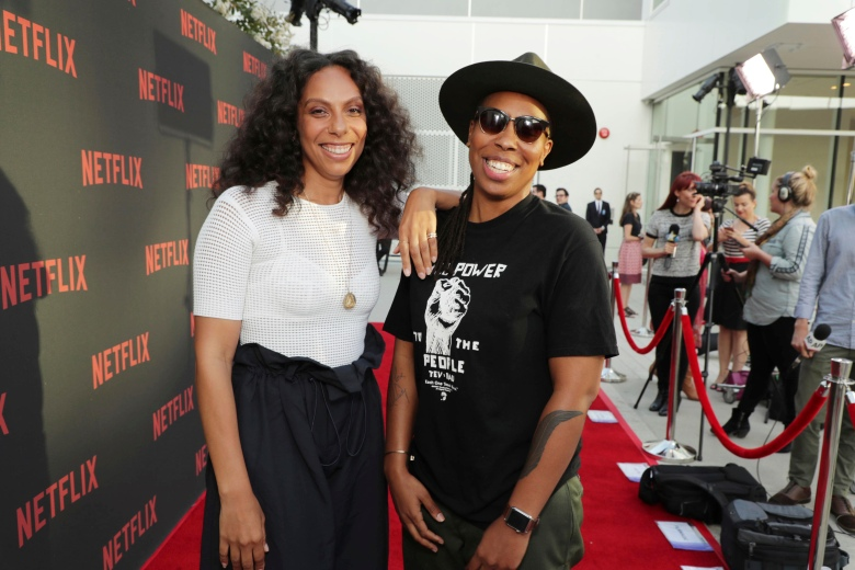 "Melina Matsoukas and Lena Waithe seen at Netflix original series ""Master of None"" ATAS panel at the Wolf Theater at Saban Media Center, in Los Angeles, CANetflix original series ""Master of None"" ATAS panel, Los Angeles, USA - 5 Jun 2017"