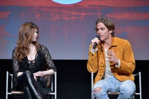 "Chris Pine and India Eisley at TNT's ""I Am the Night"" FYC Panel"