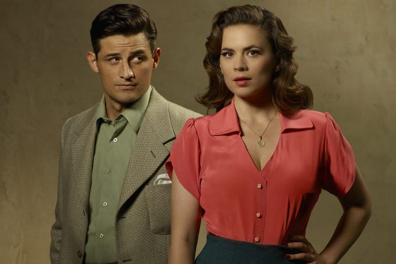 "MARVEL'S AGENT CARTER - ABC's ""Marvel's Agent Carter"" stars Enver Gjokaj as Chief Daniel Sousa and Hayley Atwell as Agent Peggy Carter. (ABC/Bob D'Amico)"