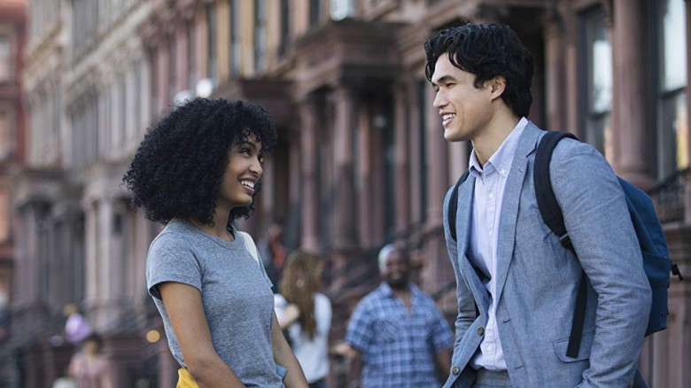 "Yara Shahidi and Charles Melton in ""The Sun is also a Star."" (Warner Bros.)"