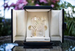 View of the Palme d'Or award, which will be presented at the 71st international film festival, Cannes, southern FrancePalme Award, Cannes, France - 15 May 2018