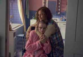 "The Act ""Stay Inside"" Episode 104 -- Gypsy's getting older and Dee Dee is forced to new legal maneuvers to keep control of her ""little girl."" But Dee Dee's limited by her own health problems, and Gypsy goes to greater lengths than ever to connect with men and experience a sexual awakening. Dee Dee Blanchard (Patricia Arquette) and Gypsy Rose Blanchard (Joey King), shown. (Photo by: Brownie Harris/Hulu)"
