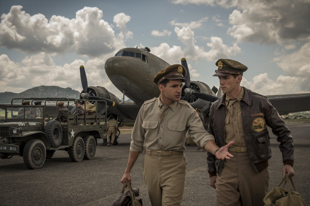 Catch-22 Episode 2 Yossarian pursues desperate measures to get home, while Milo sees war as a growth industry. Yossarian (Christopher Abbott), Clevinger (Pico Alexander) shown. (Photo by: Philippe Antonello/ Hulu)