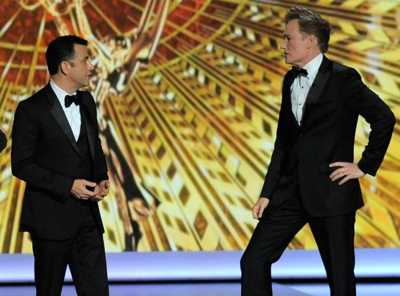 Jimmy Kimmel, Conan O'Brien,65th Primetime Emmy Awards at Nokia Theatre, in Los Angeles65th Primetime Emmy Awards - Show, Los Angeles, USA