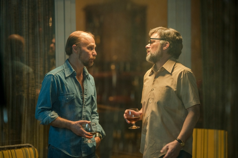 "FOSSE VERDON ""Where Am I Going?"" Episode 5 (Airs Tuesday, May 7, 10:00 pm/ep) -- Pictured: (l-r) Sam Rockwell as Bob Fosse, Norbert Leo Butz as Paddy Chayefsky. CR: Michael Parmelee/FX"