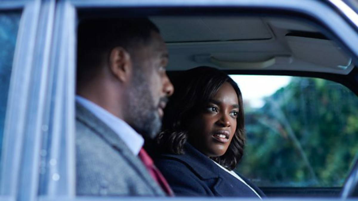 DCI John Luther (IDRIS ELBA), DS Halliday (WUNMI MOSAKU). (Photo: BBC TV Still)