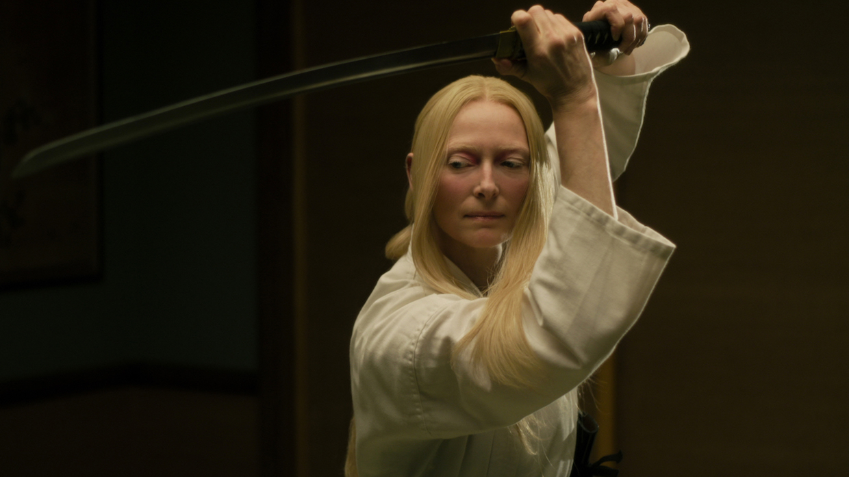 "Tilda Swinton stars as ""Zelda Winston"" in writer/director Jim Jarmusch's THE DEAD DON'T DIE, a Focus Features release. Credit : Frederick Elmes / Focus Features © 2019 Image Eleven Productions, Inc."
