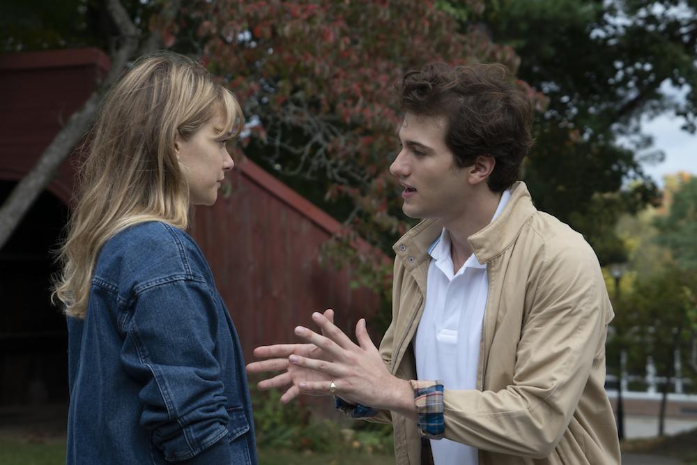The Society Season 1 Rachel Keller, Alex Fitzalan