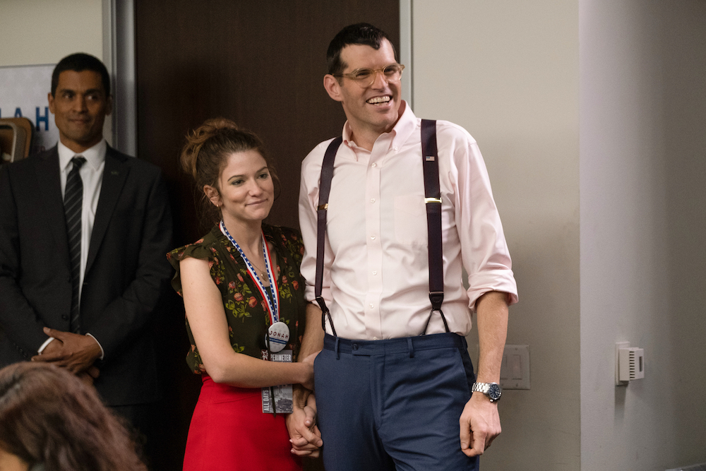 """Emily Pendergast and Timothy Simons in """"Veep"""" Season 7 Episode 7 series finale"""
