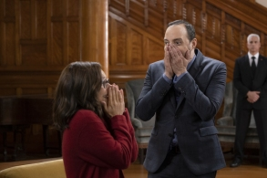 "Julia Louis-Dreyfus and Tony Hale in ""Veep"" Season 7 Episode 6"