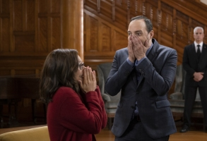 "Julia Louis-Dreyfus and Tony Hale in ""Veep"" Season 7 Episode 6"