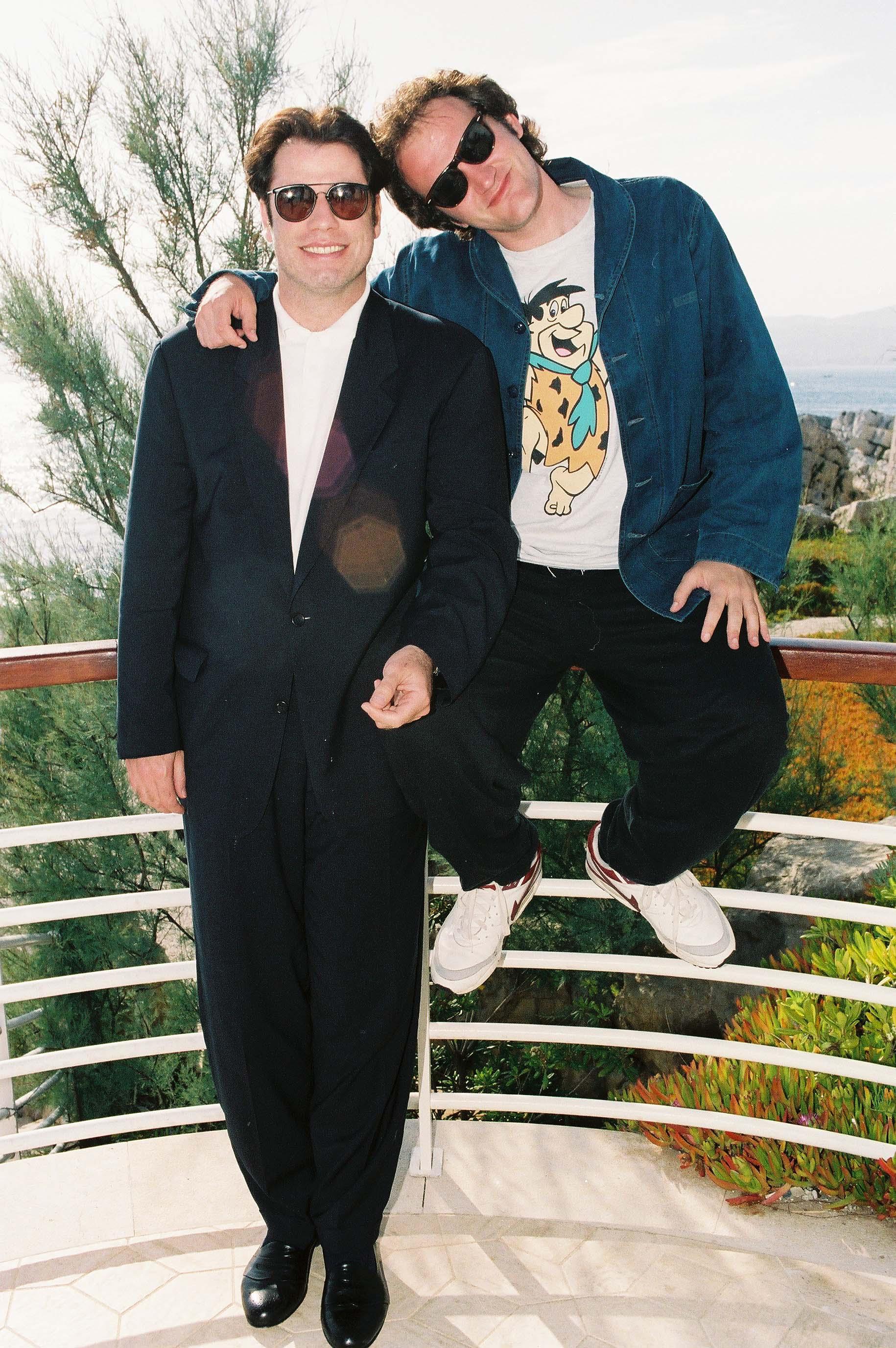 The Cannes Film Festival 1994 Pulp Fiction John Travolta & Quentin TarantinoThe Cannes Film Festival