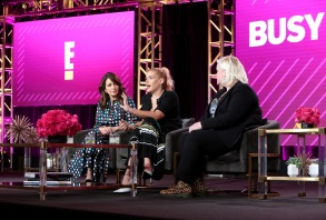 Tina Fey, Busy Philipps and Caissie St. OngeE! 'Busy Tonight' TV show panel, TCA Winter Press Tour, Los Angeles, USA - 29 Jan 2019