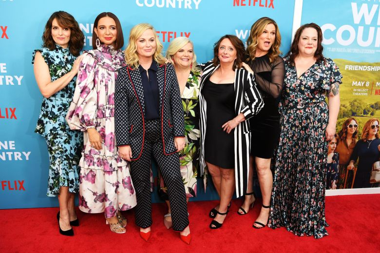 Tina Fey, Maya Rudolph, Amy Poehler, Paula Pell, Rachel Dratch, Ana Gasteyer, Emily Spivey'Wine Country' film premiere, Arrivals, The Paris Theater, New York, USA - 08 May 2019