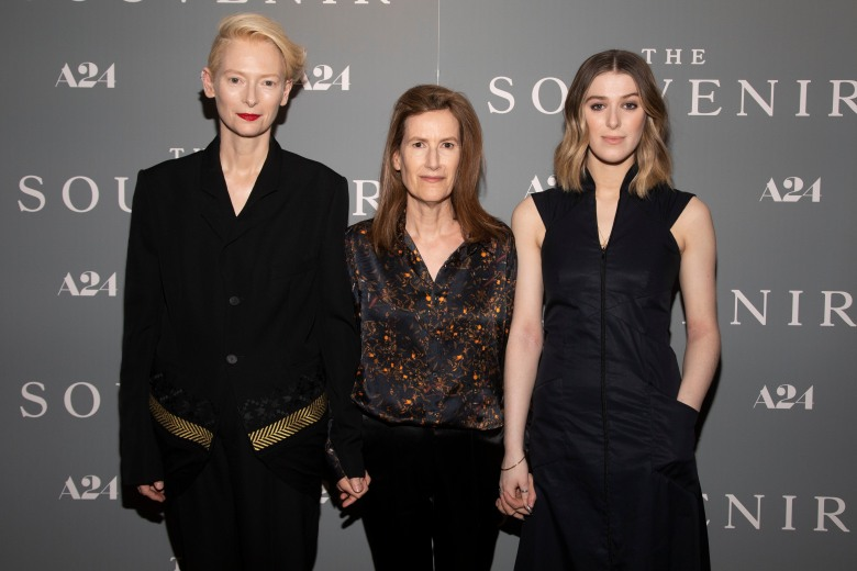 "Tilda Swinton, Joanna Hogg, Honor Swinton Byrne. Tilda Swinton, from left, Joanna Hogg and Honor Swinton Byrne attend a special screening of ""The Souvenir"" at the Crosby Street Hotel, in New YorkNY Special Screening of ""The Souvenir"", New York, USA - 08 May 2019"