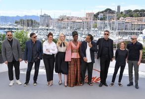 Yorgos Lanthimos, Enki Bilal, Alice Rohrwacher, Elle Fanning, Alejandro Gonzalez Inarritu, Maimouna N'Diaye Pawel Pawlikowski, Kelly Reichardt and Robin CampilloJury photocall, 72nd Cannes Film Festival, France - 14 May 2019