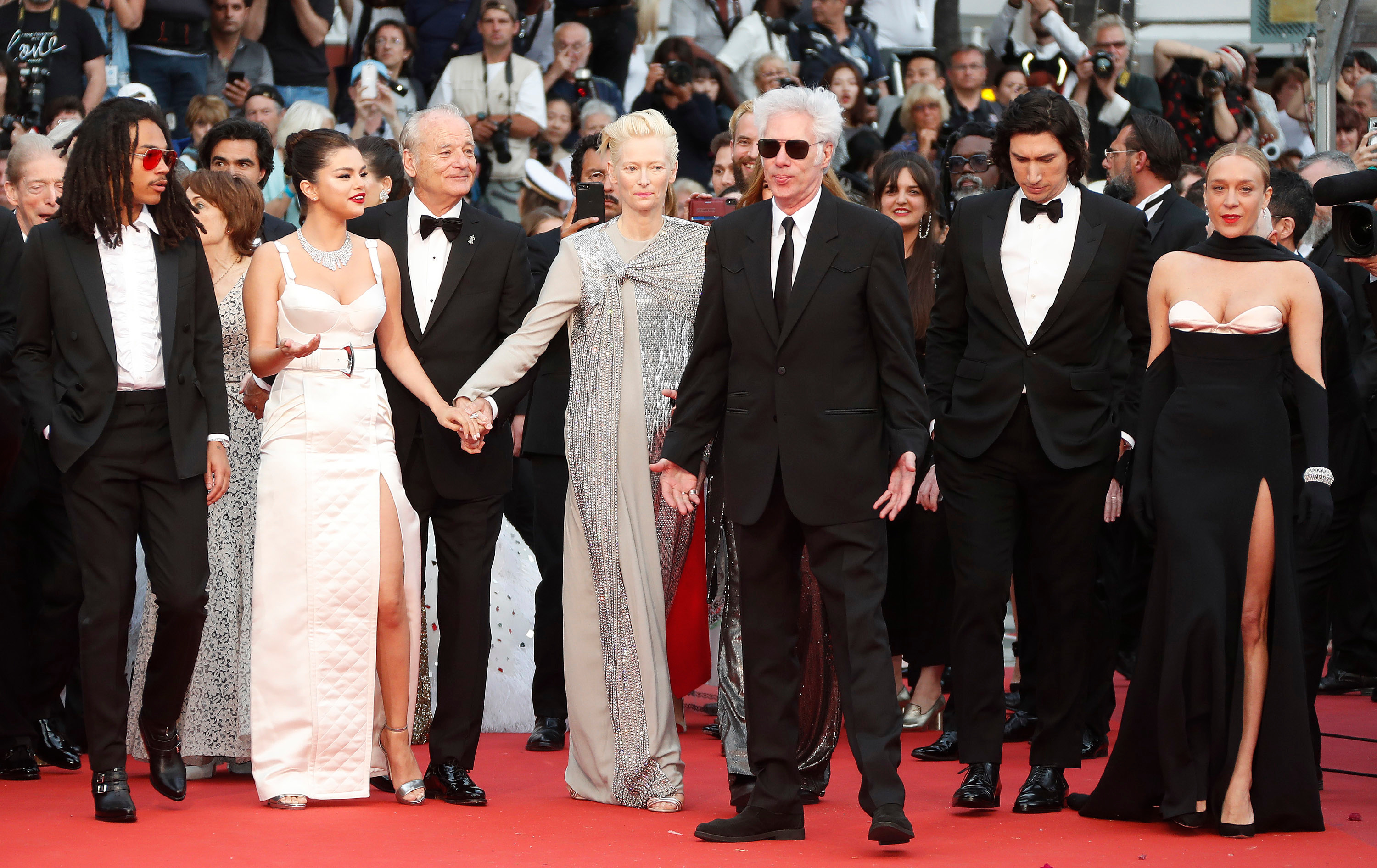 Luka Sabbat, Selena Gomez, Bill Murray, Tilda Swinton, US director Jim Jarmusch, Adam Driver and Chloe Sevigny arrive for the screening of â??The Dead Don't Die' and the Opening Ceremony of the 72nd annual Cannes Film Festival in Cannes, France, 14 May 2019. Presented in competition, the movie opens the festival which runs from 14 to 25 May.The Dead Don't Die Premiere - 72nd Cannes Film Festival, France - 14 May 2019
