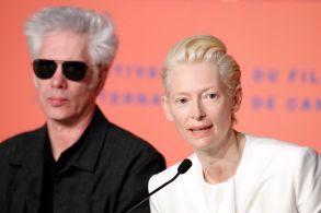 Tilda Swinton (R) and US director Jim Jarmusch (L) attend the press conference for 'The Dead Don't Die' during the 72nd annual Cannes Film Festival, in Cannes, France, 15 May 2019. The movie is presented in the Official Competition of the festival which runs from 14 to 25 May.The Dead Don't Die Press Conference - 72nd Cannes Film Festival, France - 15 May 2019
