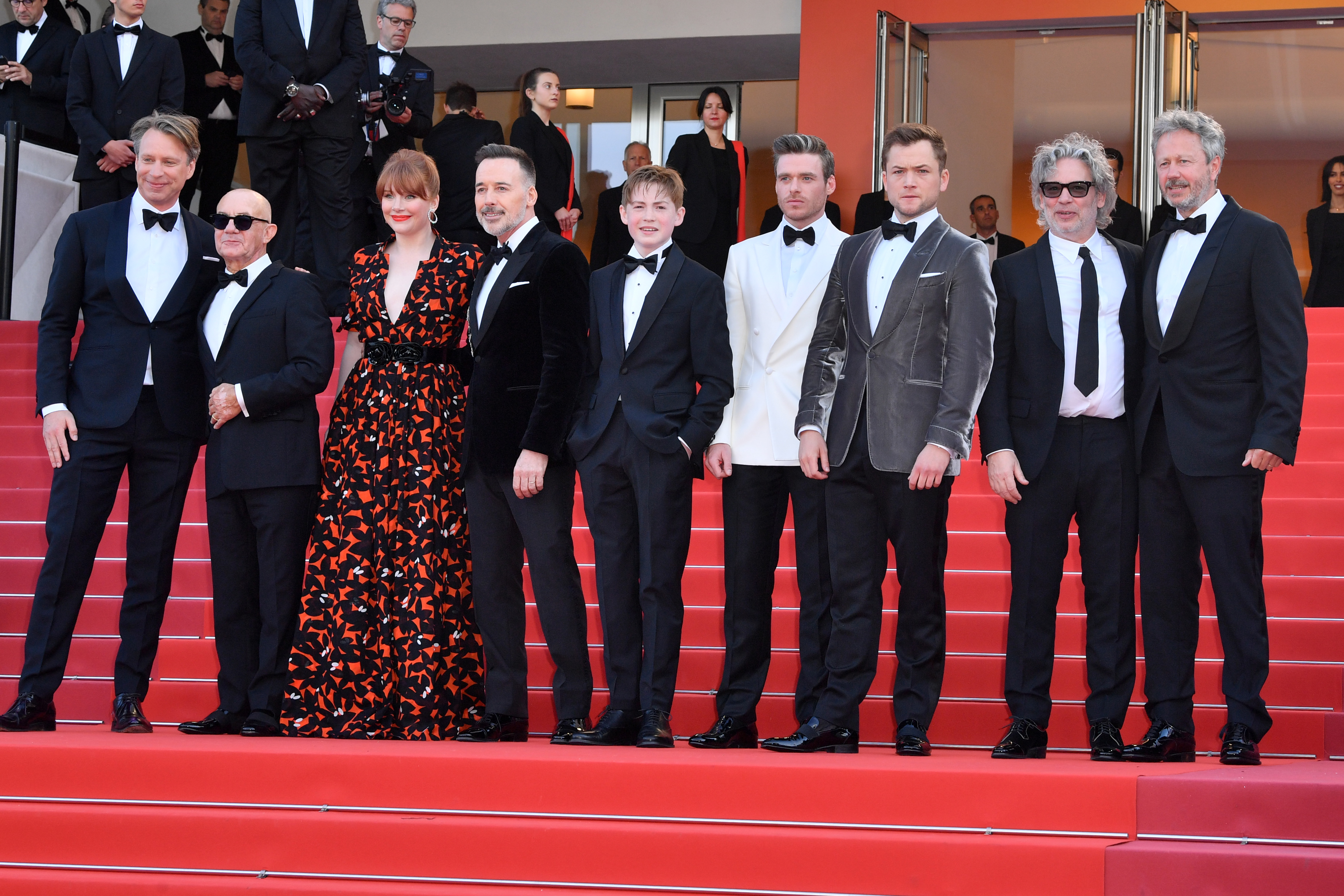 Giles Martin, Bernie Taupin, Bryce Dallas Howard, David Furnish, Kit Connor, Richard Madden, Taron Egerton and Dexter Fletcher'Rocketman' premiere, 72nd Cannes Film Festival, France - 16 May 2019