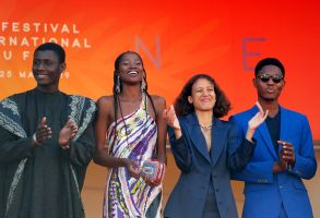 Mati Diop (2-R) with cast arrive for the screening of 'Atlantics' (Atlantique) during the 72nd annual Cannes Film Festival, in Cannes, France, 16 May 2019. The movie is presented in the Official Competition of the festival which runs from 14 to 25 May.Atlantics Premiere - 72nd Cannes Film Festival, France - 16 May 2019