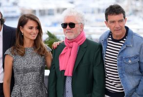 Penelope Cruz, Pedro Almodovar and Antonio Banderas'Pain and Glory' photocall, 72nd Cannes Film Festival, France - 18 May 2019