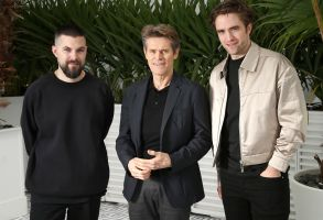 Robert Eggers, Willem Dafoe, Robert Pattinson. Director Robert Eggers, from left, actors Willem Dafoe and Robert Pattinson pose for portrait photographs for the film 'The Lighthouse' at the 72nd international film festival, Cannes, southern France2019 The Lighthouse Portraits, Cannes, France - 19 May 2019
