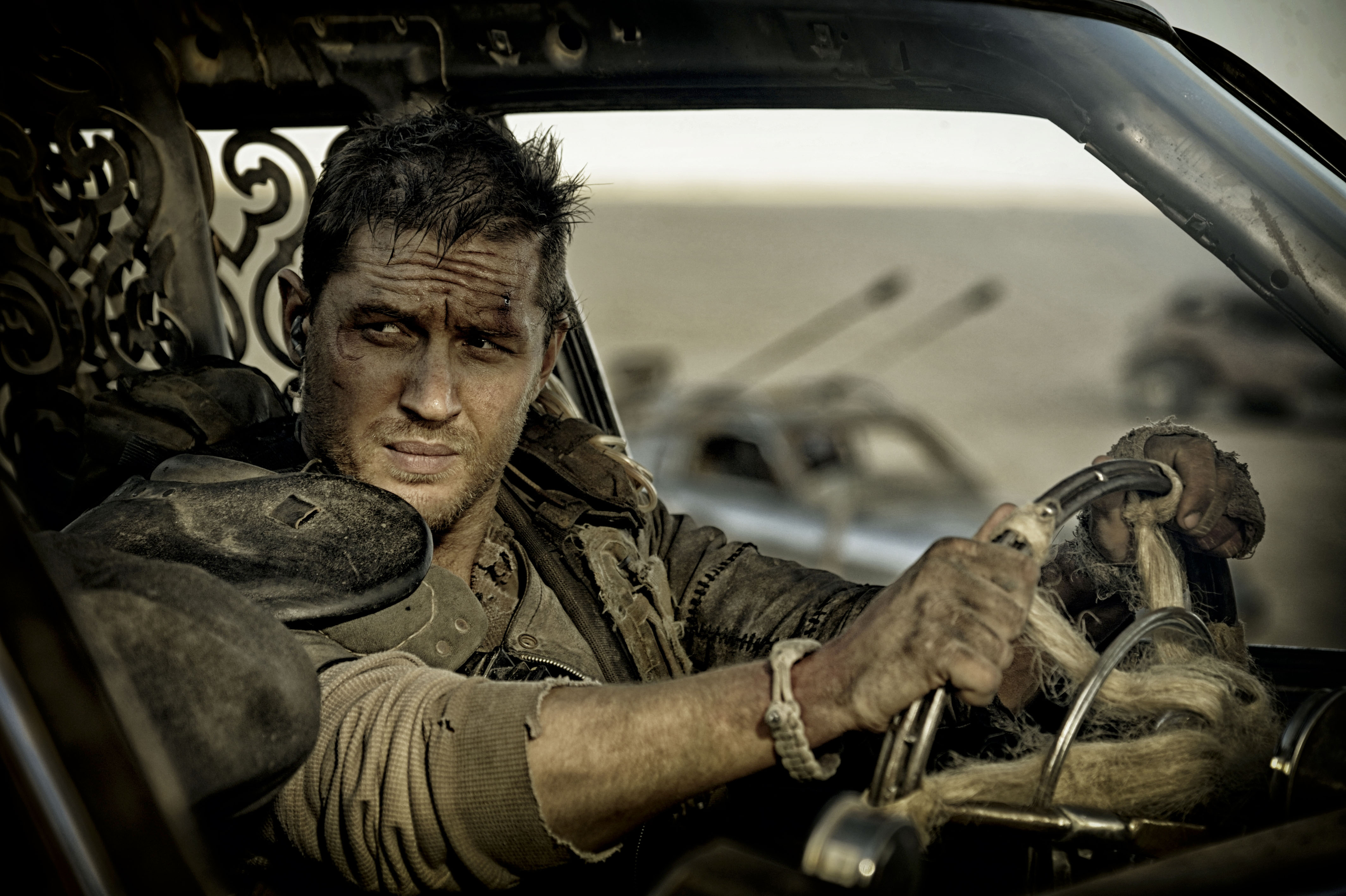 Editorial use only. No book cover usage.Mandatory Credit: Photo by Village Roadshow/Kobal/REX/Shutterstock (5886126as) Tom Hardy Mad Max - Fury Road - 2015 Director: George Miller Village Roadshow AUSTRALIA Scene Still Action/Adventure Mad Max 4