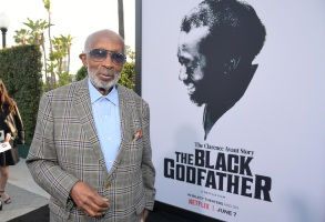 "LOS ANGELES, CALIFORNIA - JUNE 03: Clarence Avant attends Netflix world premiere of ""THE BLACK GODFATHER at the Paramount Theater on June 03, 2019 in Los Angeles, California. (Photo by Charley Gallay/Getty Images for Netflix)"