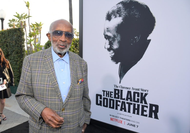 """LOS ANGELES, CALIFORNIA - JUNE 03: Clarence Avant attends Netflix world premiere of """"THE BLACK GODFATHER at the Paramount Theater on June 03, 2019 in Los Angeles, California. (Photo by Charley Gallay/Getty Images for Netflix)"""