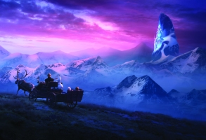 """In Walt Disney Animation Studios' """"Frozen 2, Elsa, Anna, Kristoff, Olaf and Sven journey far beyond the gates of Arendelle in search of answers. Featuring the voices of Idina Menzel, Kristen Bell, Jonathan Groff and Josh Gad, """"Frozen 2"""" opens in U.S. theaters November 22.©2019 Disney. All Rights Reserved."""