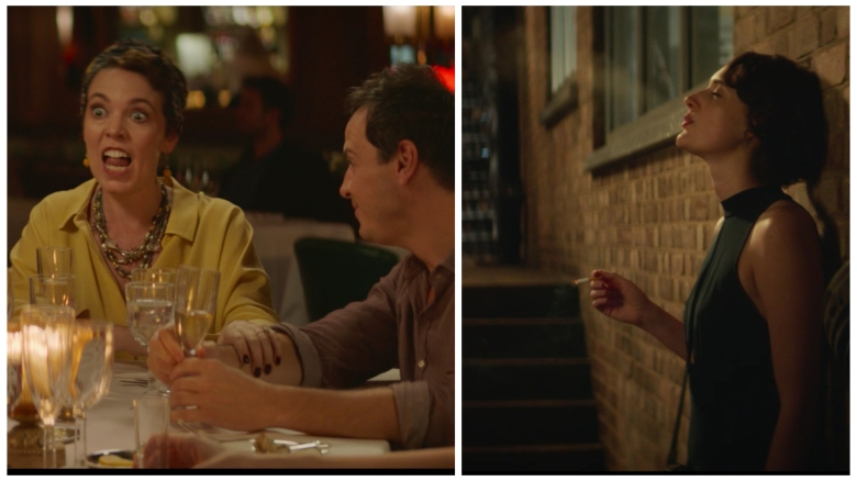 """Fleabag"": The hard cut interrupts Olivia Coleman talking."