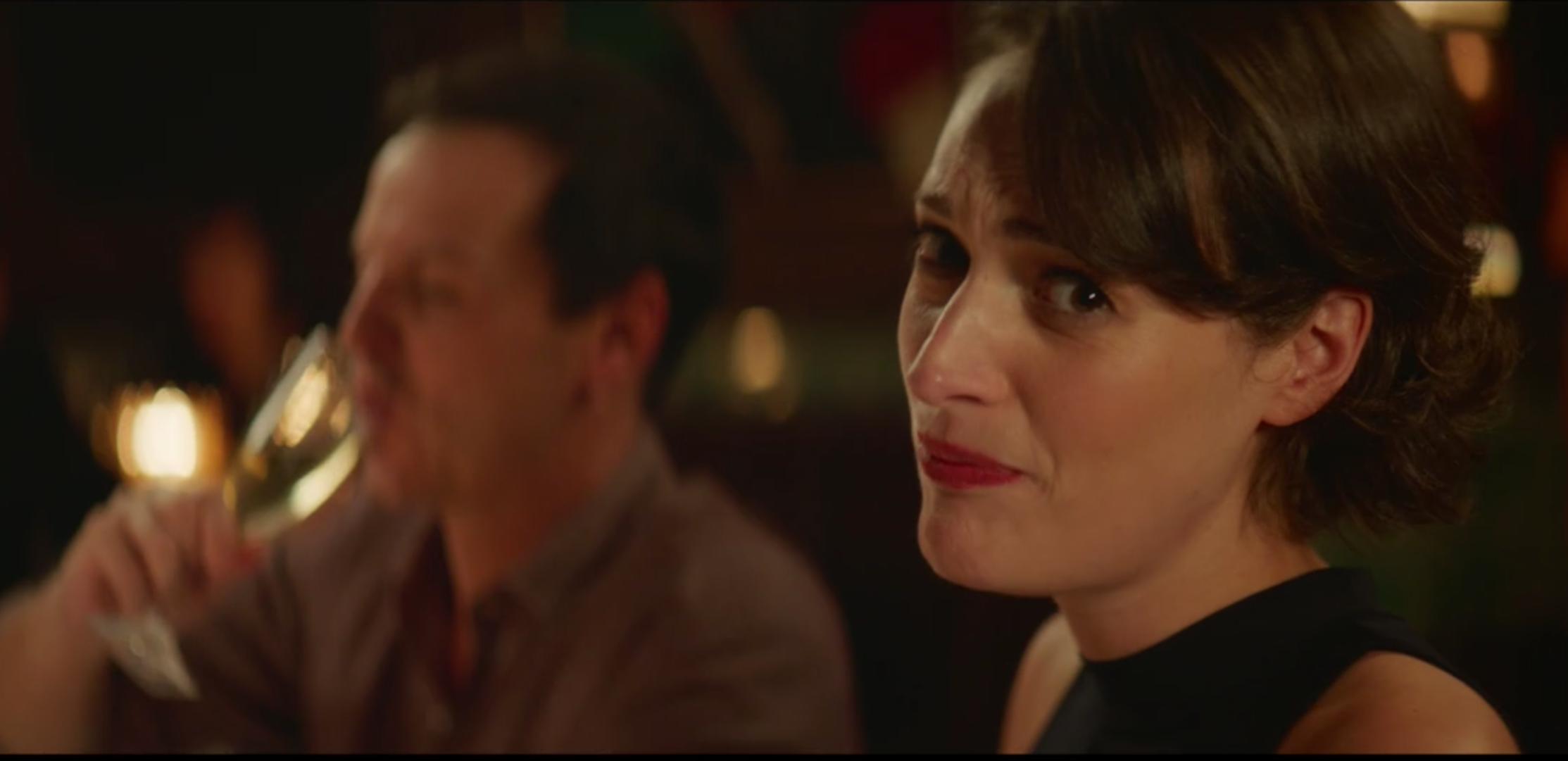 "Phoebe Waller-Bridges breaks the fourth wall in S2 Ep1 of ""Fleabag"""