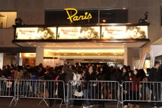 Exterior of the Paris Theater during the premiere of 'Remember Me' on Monday, March 1, 2010 in New York. (AP Photo/Evan Agostini)