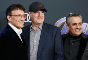 Anthony Russo, Kevin Feige, and Joe Russo