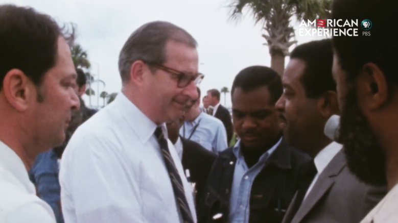 Reverend Ralph Abernathy confronts Tom Paine at Cape Kennedy