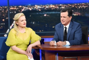 Stephen Colbert Elisabeth Moss Crying