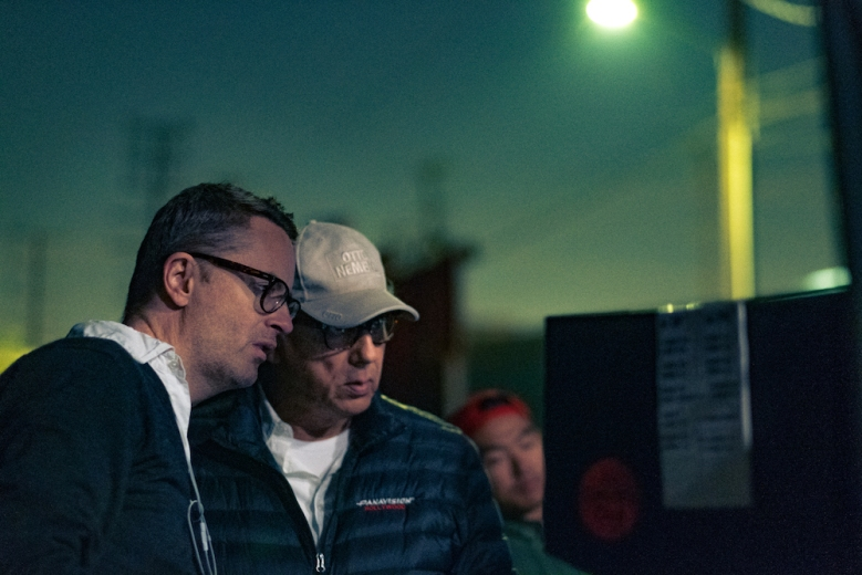 Nicolas Winding Refn on set of Too Old to Die Young Amazon