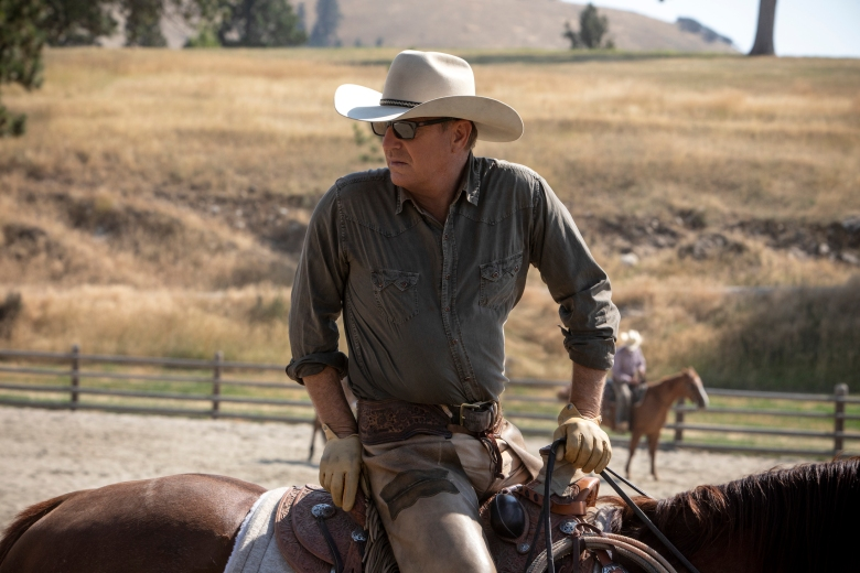 Kevin Costner stars as John Dutton in Yellowstone.  Paramount Network's original drama series Yellowstone returns for a second season starting Wednesday, June 19 at 10 p.m., ET/PT.