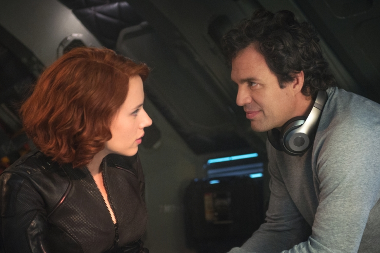 "Natasha Romanoff/Black Widow (Scarlett Johansson, left,) and Bruce Banner/Hulk (Mark Ruffalo) in a scene from the motion picture ""Avengers: Age Of Ultron."" CREDIT: Jay Maidment, Marvel [Via MerlinFTP Drop]"