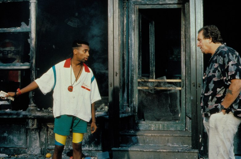 "Spike Lee, Danny Aiello in ""Do The Right Thing"""
