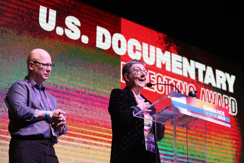 Steven Bognar (L) and Julia Reichert (R) win the Directing Award: US Documentary for 'American Factory' at the 2019 Sundance Film Festival awards ceremony in Park City, Utah, USA, 02 February 2019.2019 Sundance Film Festival Awards Ceremony, Park City, USA - 02 Feb 2019