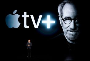 Steven Spielberg at the Steve Jobs Theater during an event to announce new products, in Cupertino, CalifApple Streaming TV, Cupertino, USA - 25 Mar 2019