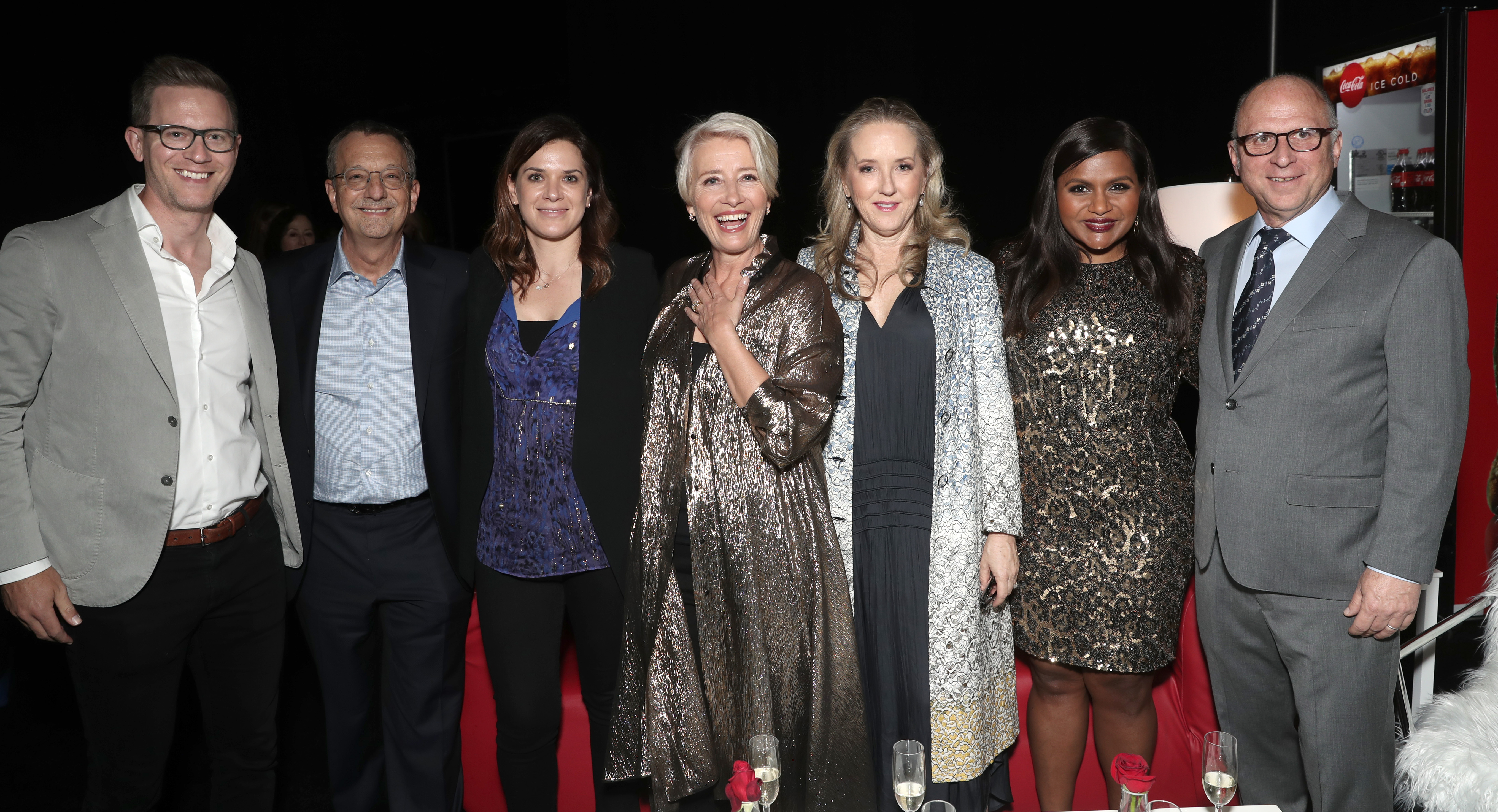 Amazon Studios Co Head of Movies Matt Newman, Amazon Studios Co Head of Movies Julie Rapaport, Emma Thompson, Amazon Studios Head Jennifer Salke, Mindy Kaling and Amazon Studios Head of Marketing and Distribution Bob BerneyAmazon Studios Presentation and Screening of 'Late Night', CinemaCon, Las Vegas, USA - 03 Apr 2019