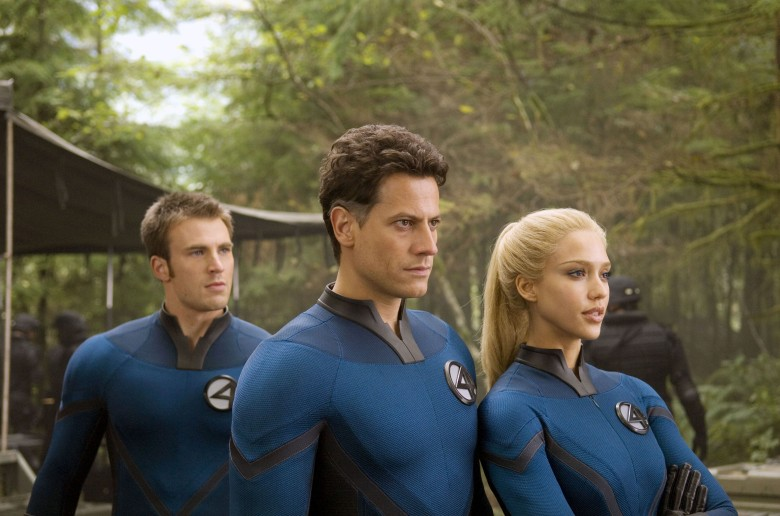 Editorial use only. No book cover usage.Mandatory Credit: Photo by 20th Century Fox/Marvel/Kobal/Shutterstock (5885098k)Chris Evans, Ioan Gruffudd, Jessica AlbaFantastic Four - Rise Of The Silver Surfer - 2007Director: Tim Story20th Century Fox/MarvelUSAScene Still