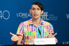 "Writer Max Landis attends a press conference for ""Mr. Right"" on day 10 of the Toronto International Film Festival at TIFF Bell Lightbox, in Toronto2015 TIFF - ""Mr. Right"" Press Conference, Toronto, Canada"