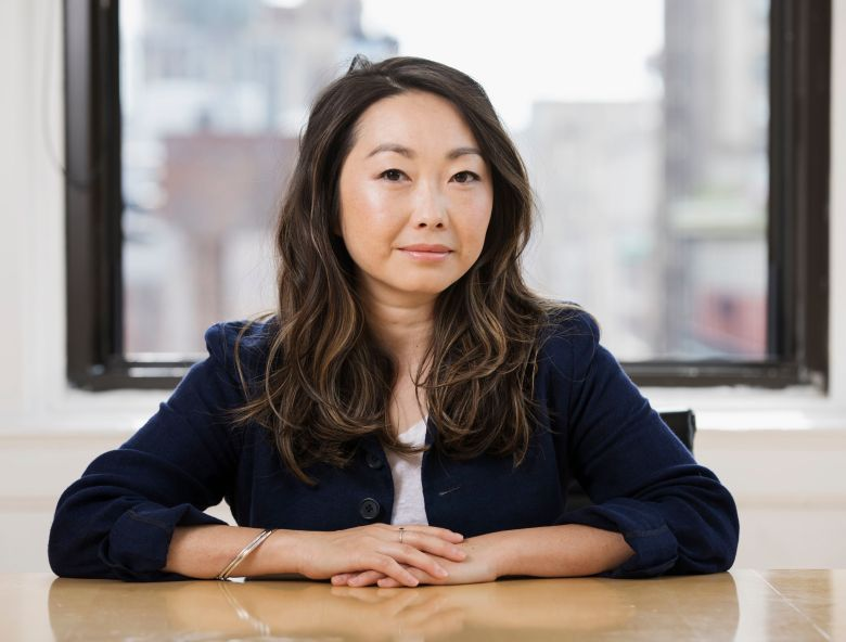 """This photo shows filmmaker Lulu Wang posing in New York to promote her film, """"The Farewell""""The Farewell"""" Portrait Session, New York, USA - 12 Jun 2019"""