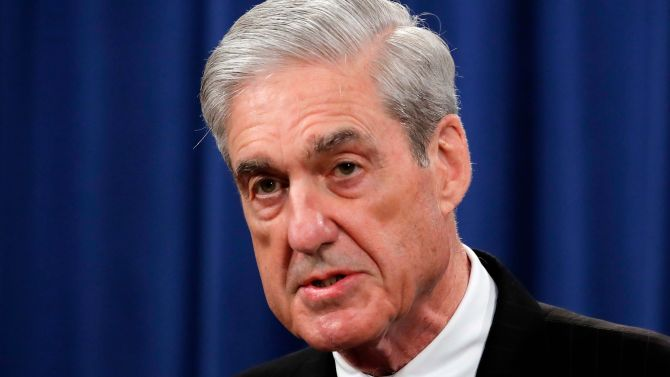 Special Counsel Robert Mueller speaks at