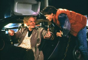 "Christopher Lloyd and Michael J. Fox, ""Back to the Future"""