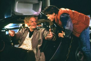 Tom Holland and Robert Downey Jr. in 'Back to the Future,' Courtesy of Deepfake