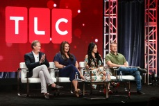 Matt Sharp, Molly Hopkins, Paola Mayfield and Russ MayfieldTLC '90 Day Fiance' TV show panel, TCA Summer Press Tour, Los Angeles, USA - 26 Jul 2018